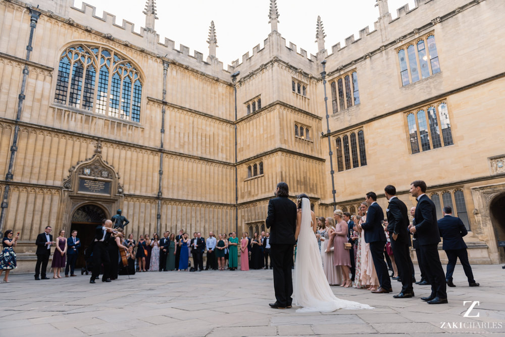 The Bodleian Library wedding photography