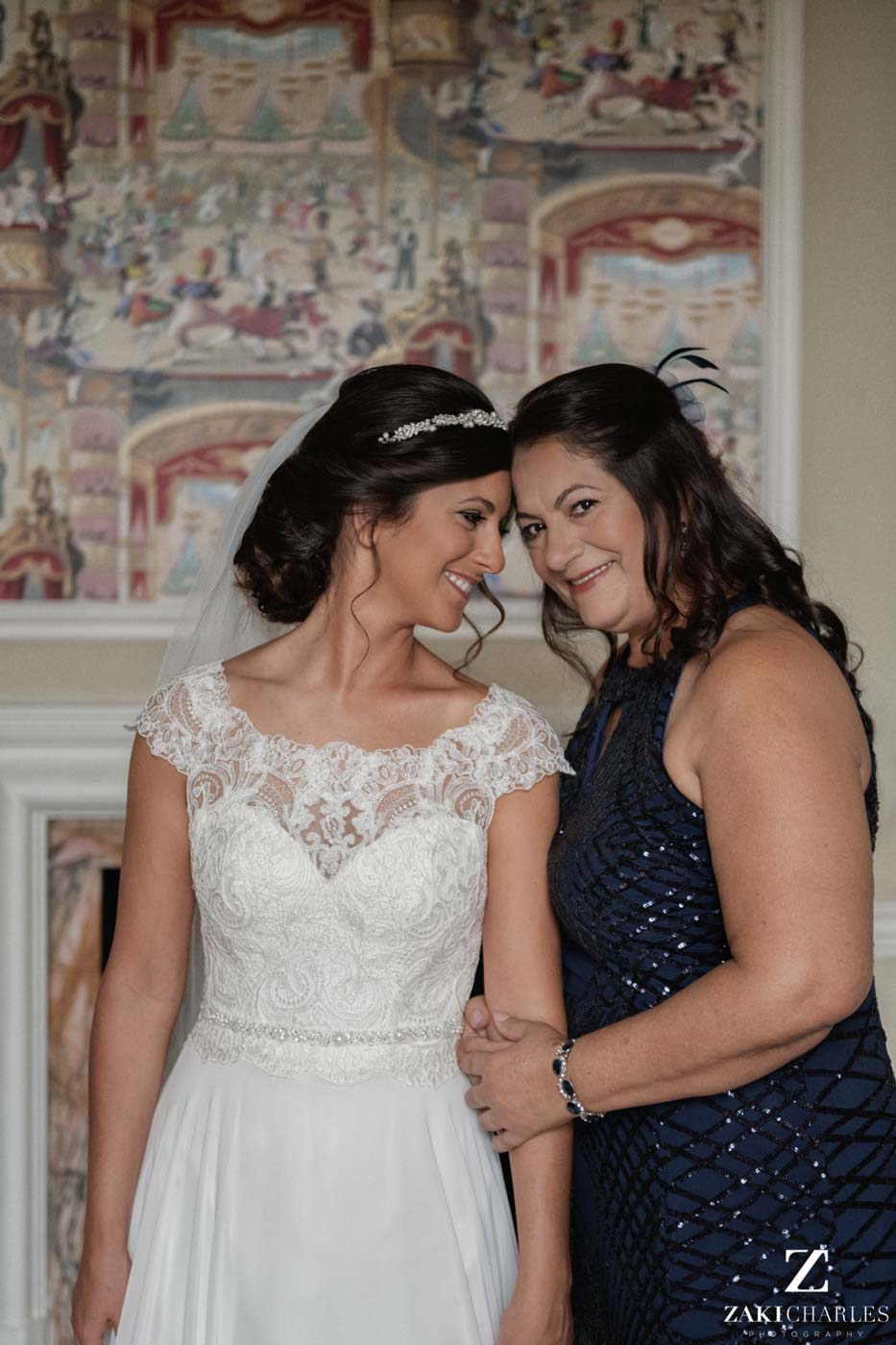 Portrait of bride and her mother at Hedsor House