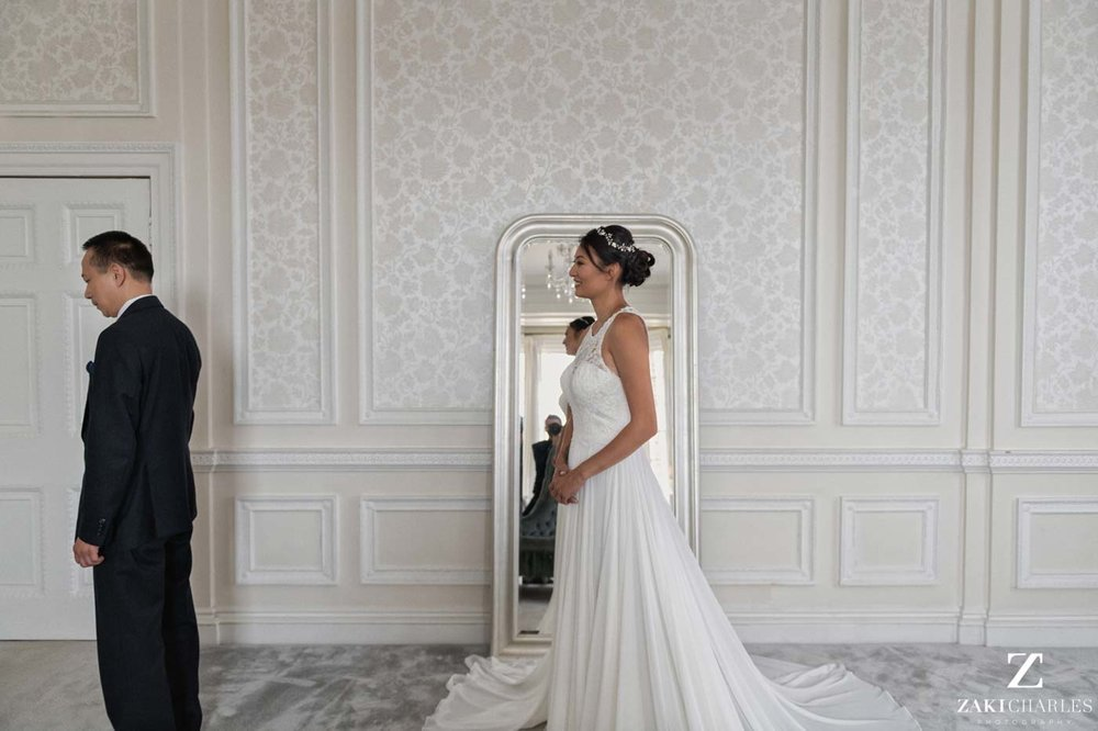 Father-daughter first look wedding Hedsor House photo 1