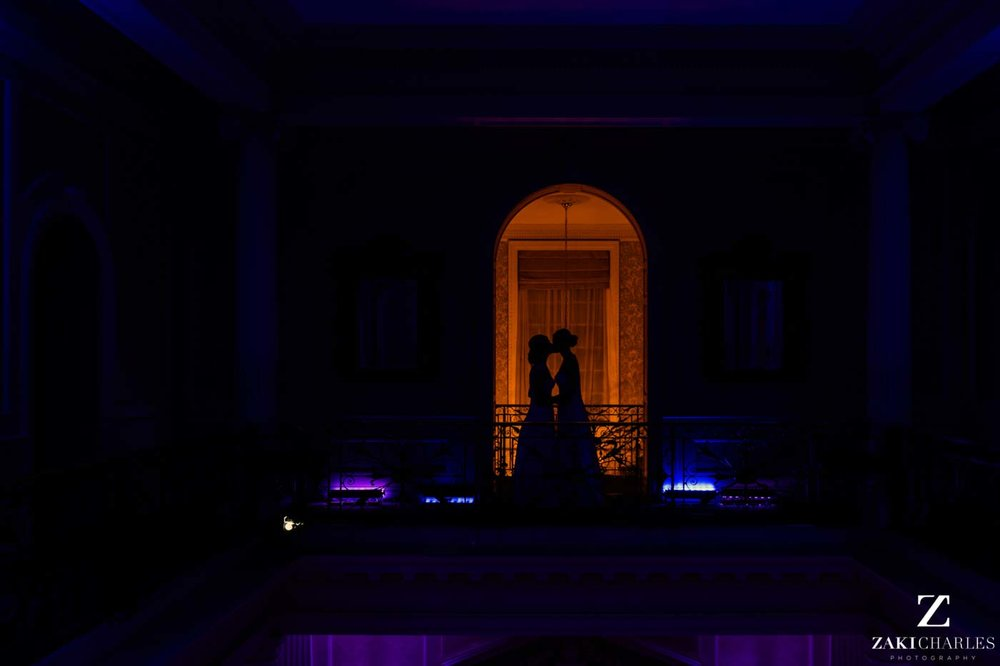 Night portrait at Hedsor House