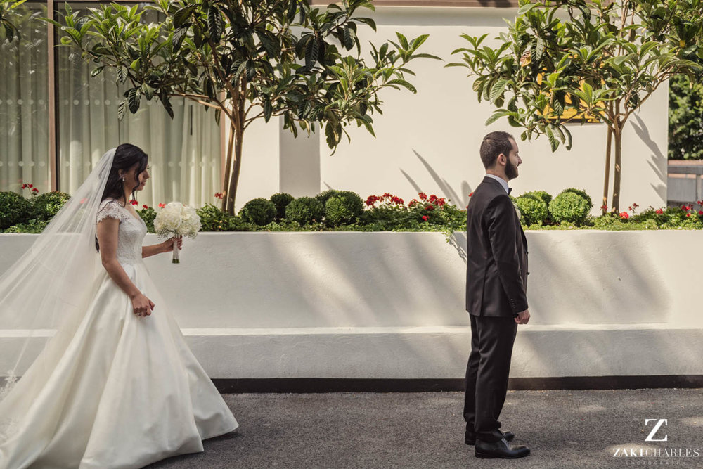 first look wedding photography at Marriott Hotel Regents Park 3