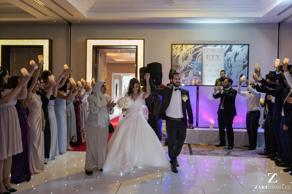 First dance of the bride and groom at Marriott Hotel Regents Park 1