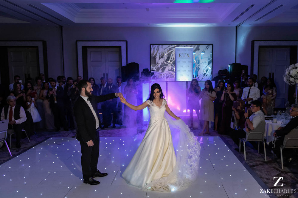 First dance of the bride and groom at Marriott Hotel Regents Park 2