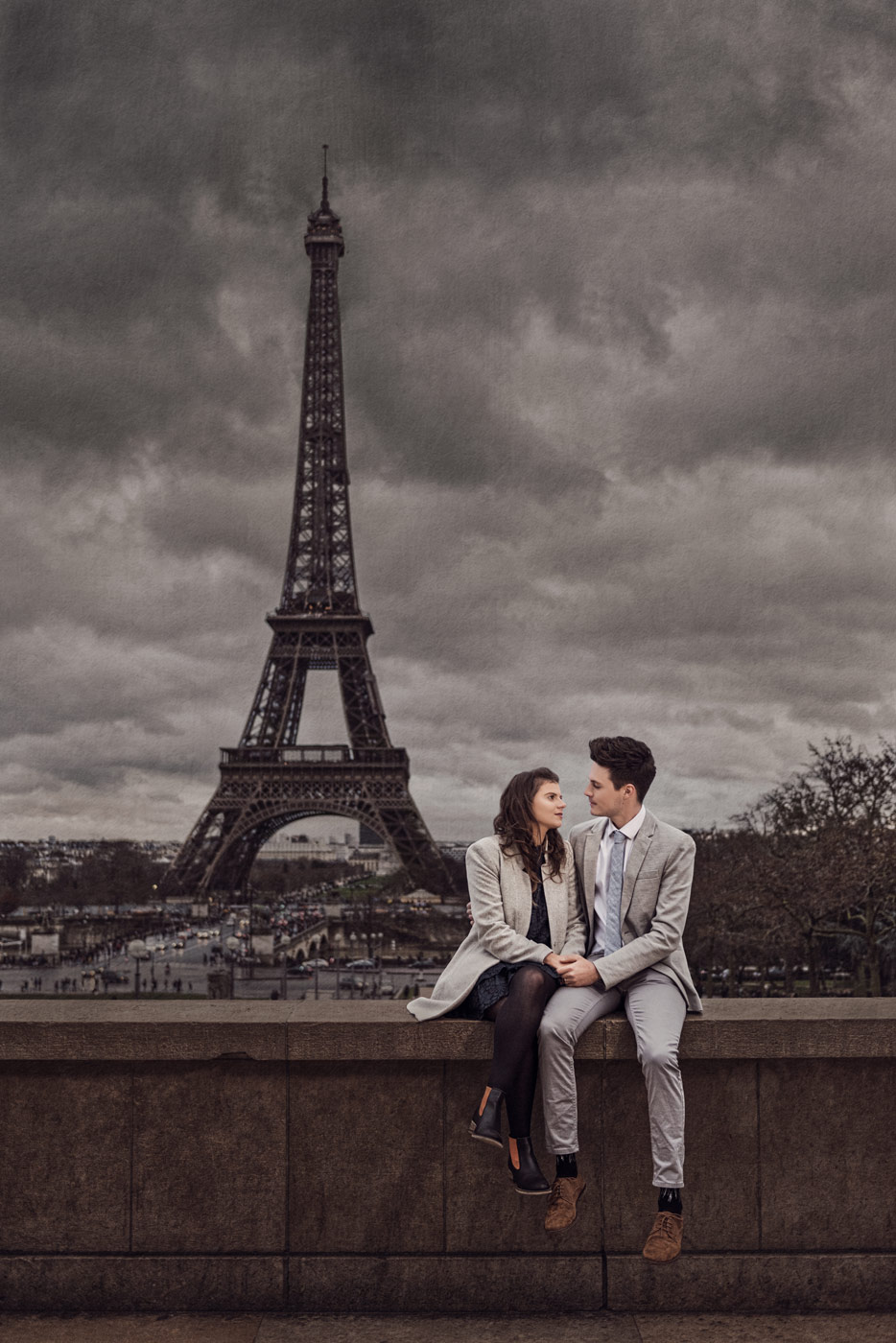 Professional engagement photography in Paris