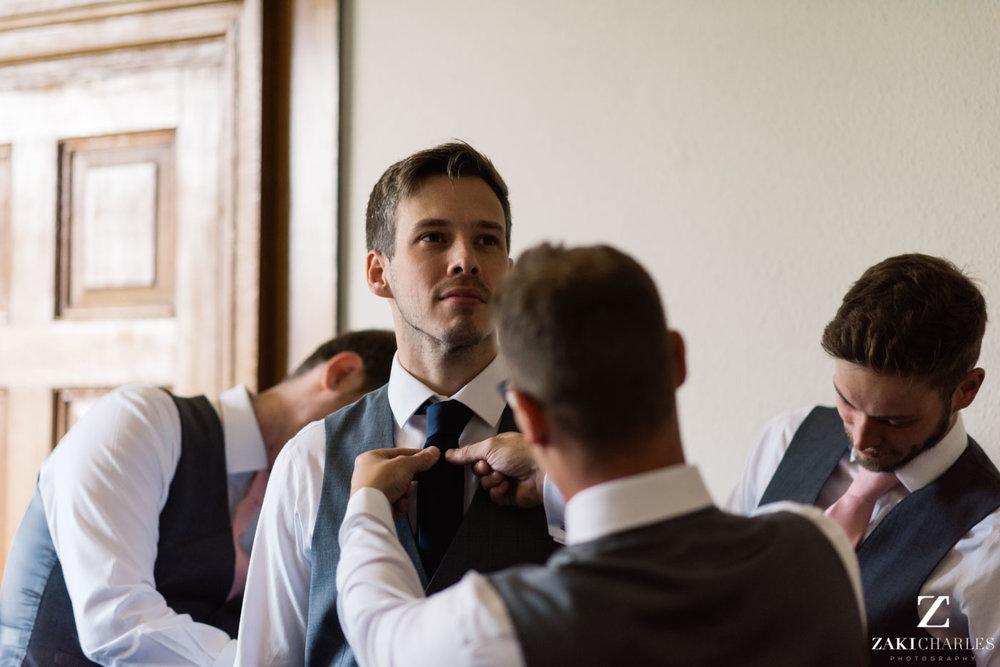 Eynsham Hall Wedding Venue groom prepare photo 3