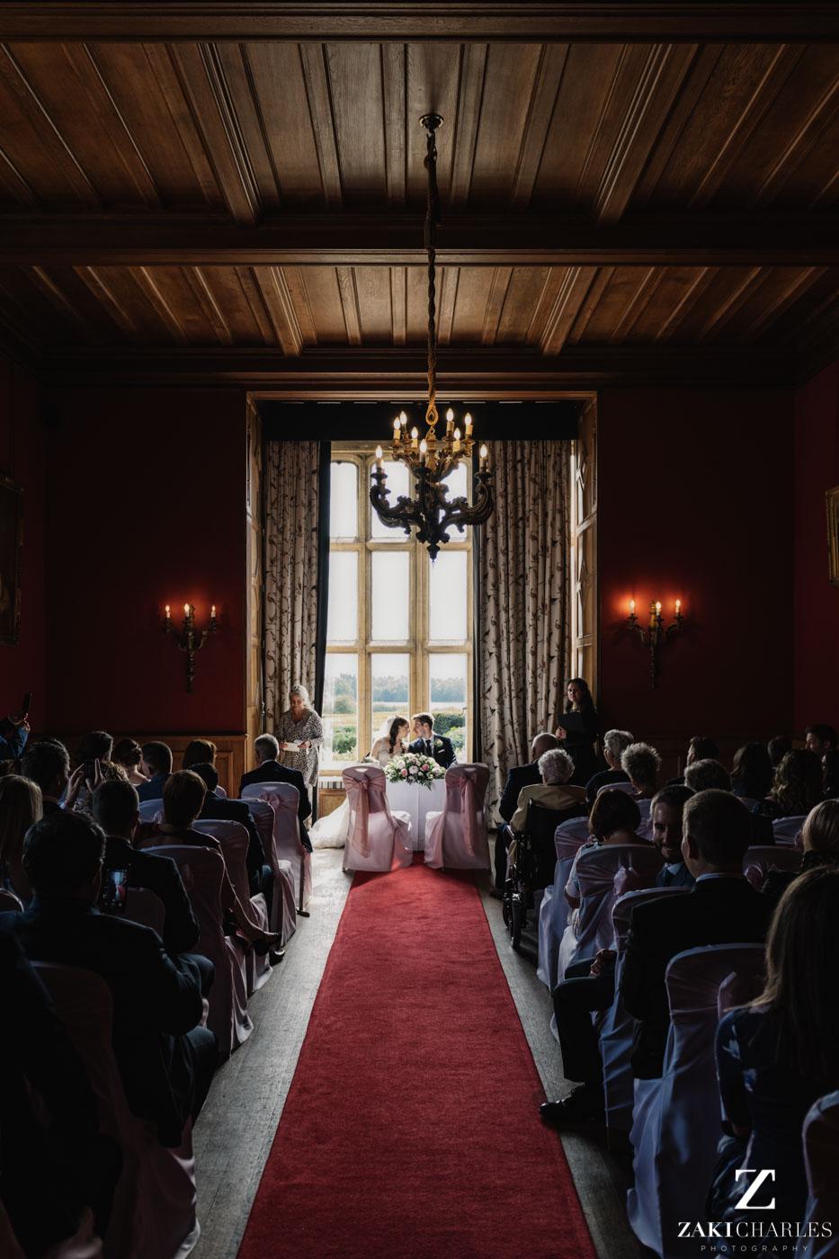 Ceremony photo at Eynsham Hall