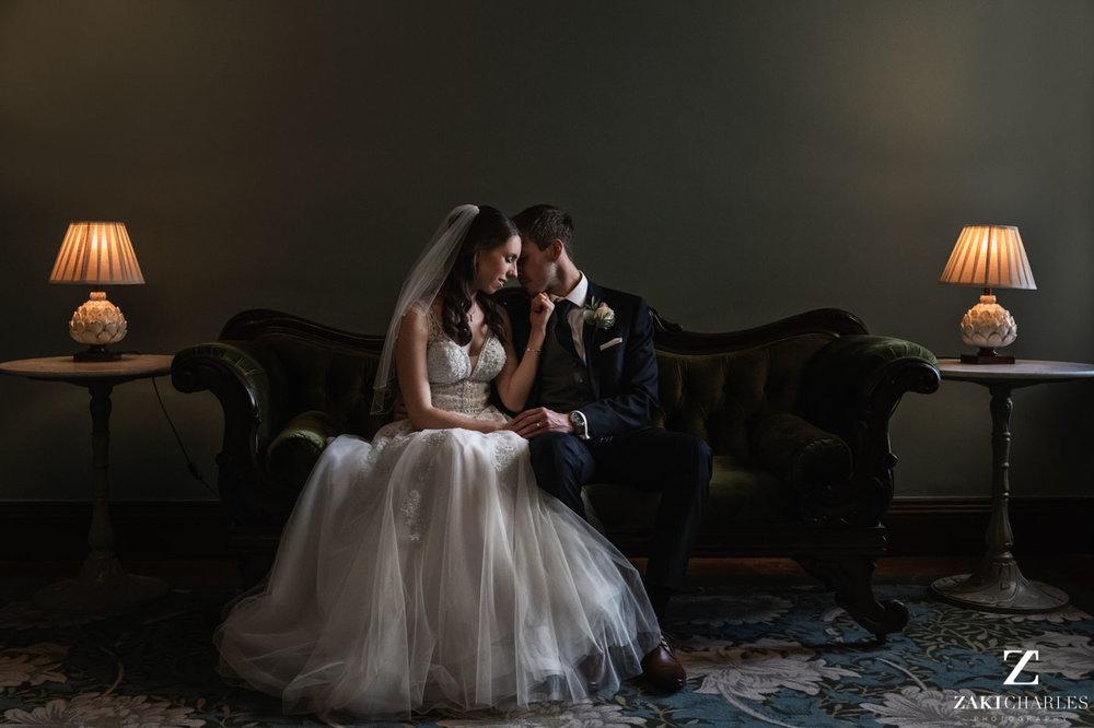 Natural light photography groom Josh and bride Caroline at Eynsham Hall