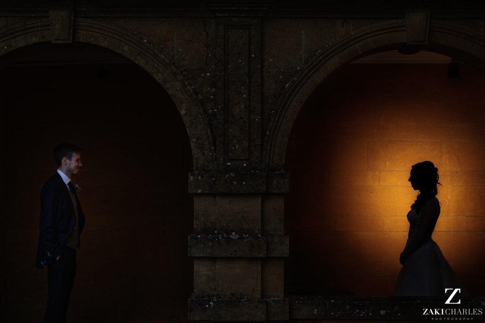 Fine art wedding photography at Eynsham Hall silhouette 1