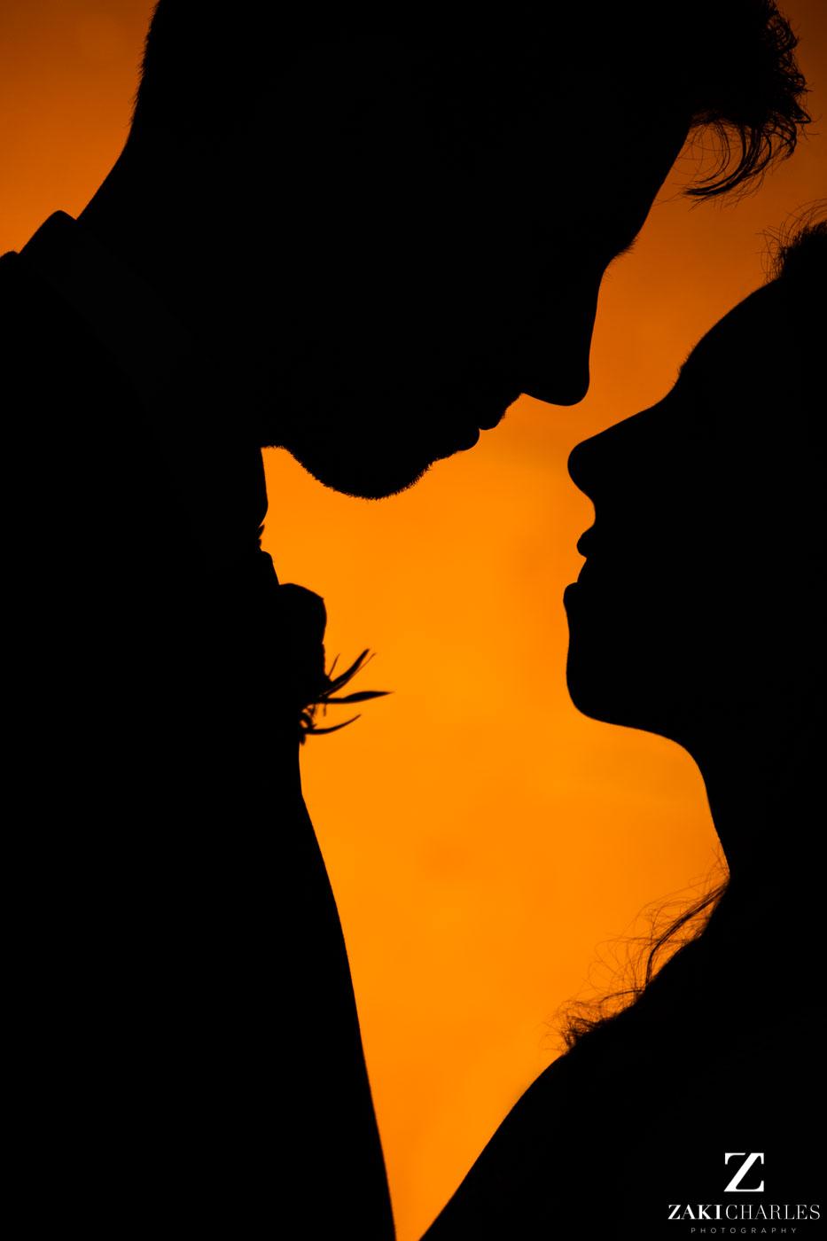 Fine art wedding photography at Eynsham Hall silhouette 2
