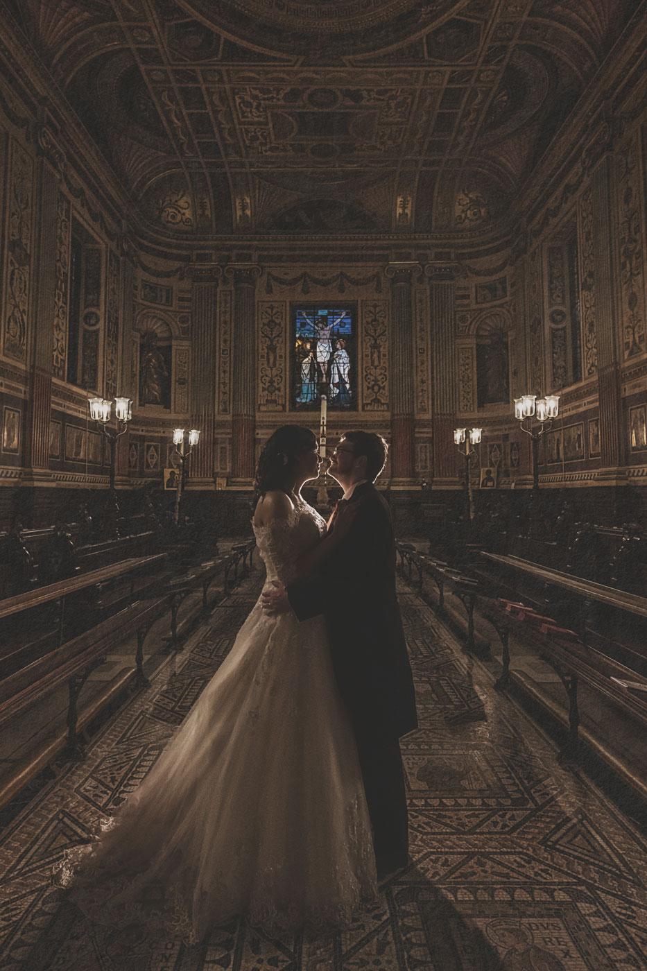 Worcester College chapel wedding photo