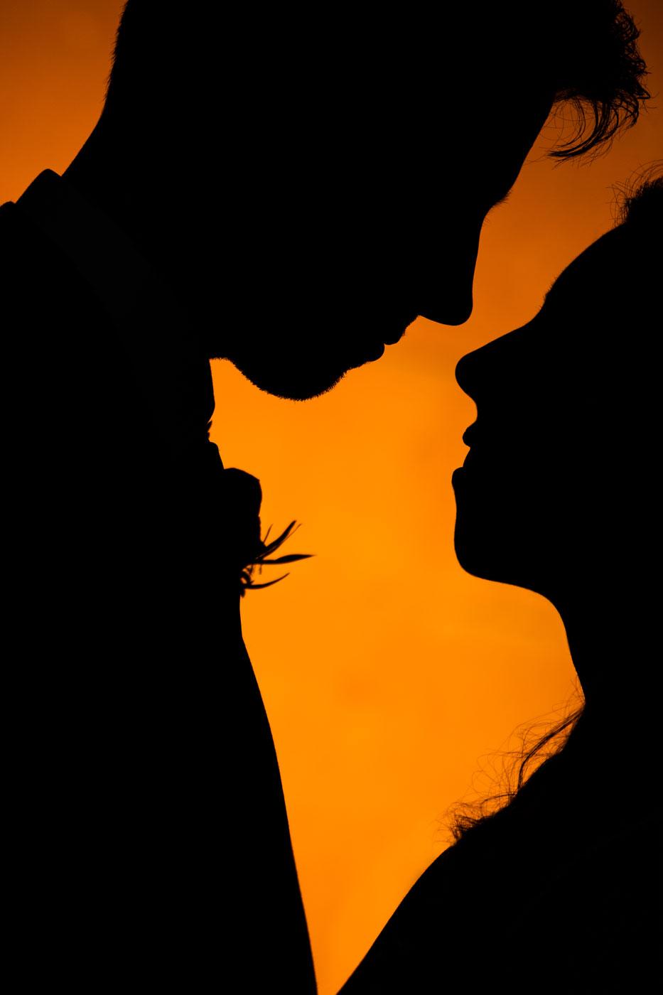 Eynsham Hall silhouette wedding photography