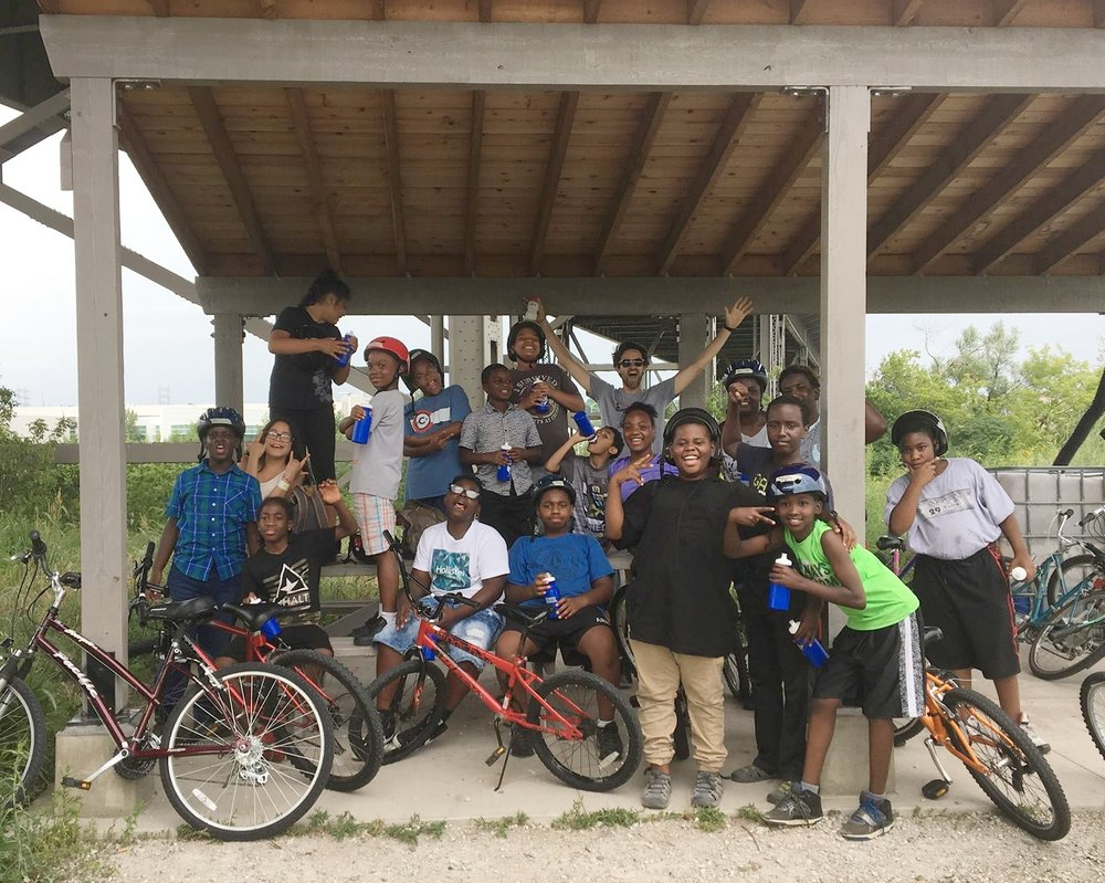 Send kids to Bike Adventure Camp   More than 1,000 neighborhood kids have participated in 2-week long camps which teach safety, build confidence, and experience the fun of biking on the Trail.
