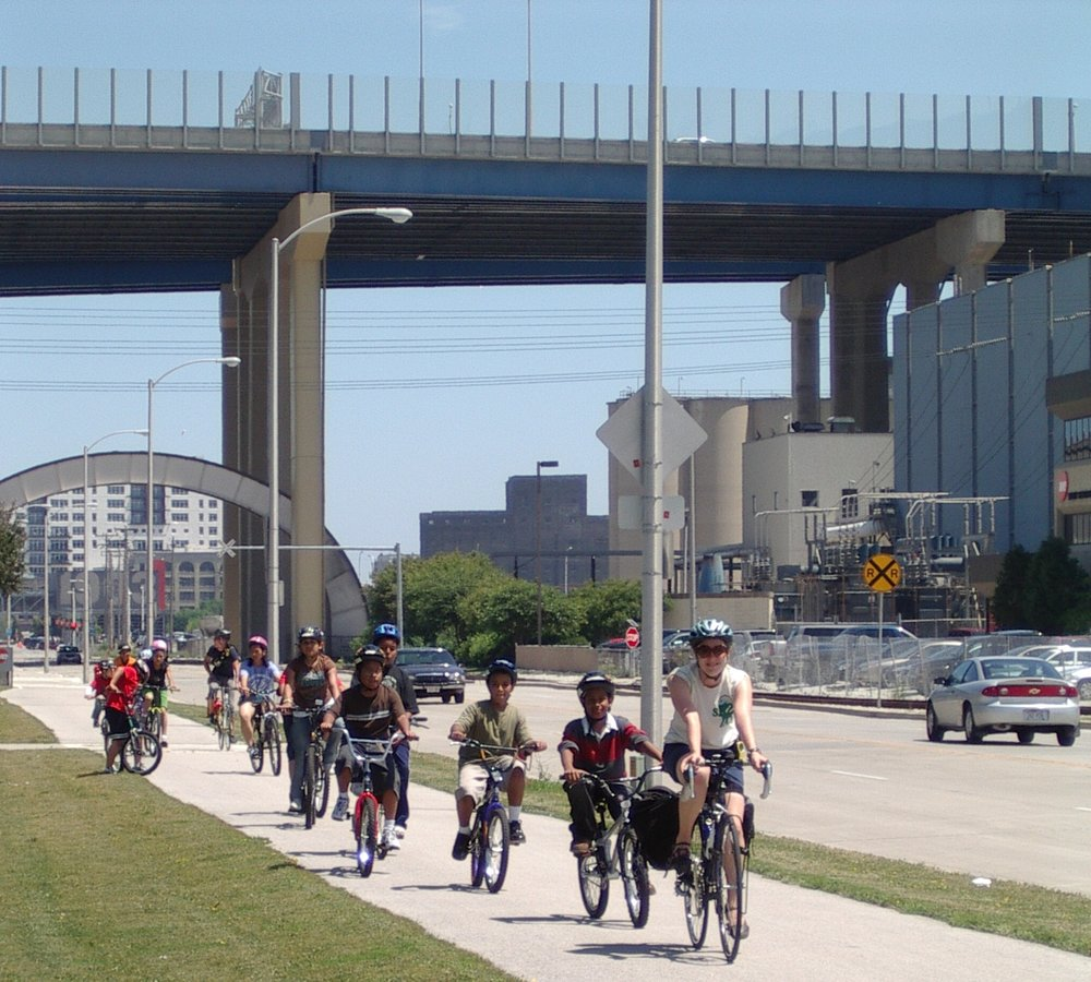 Bike camps along Canal St 2009.JPG