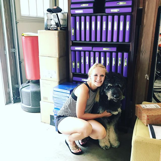 Poodle and I are getting all of our binders and page protectors set up in preparation for our pouch parties!!! #250binders #wehavemoreunopenboxes #12000sheetprotectors #pouchparties #kangarookids #helpingothers #sharecharlotte #lch #hemby #novant #atruimhealthproud #atriumhealth #thepouch