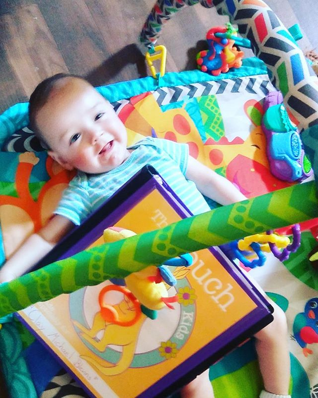Meet Clay! 💜This happy baby's momma reached out to us in hopes to get a pouch to help keep all of Clay's information in one organized place. And she sent us this picture in return! Clay was diagnosed with  PVL. Please be sure to keep him and his family in your thoughts and prayers!!