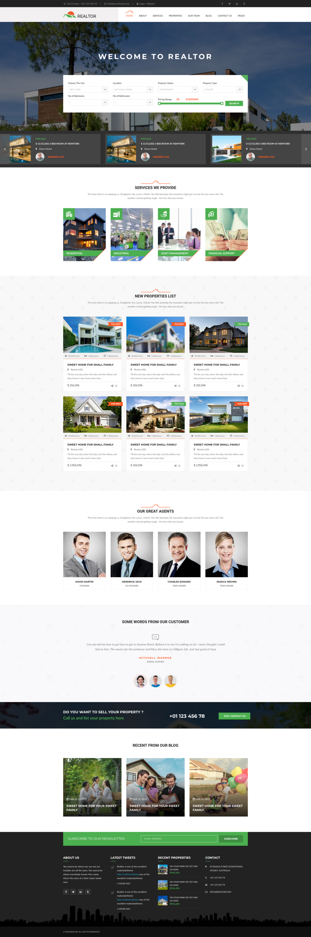 Real Estate Web DesignTemplate