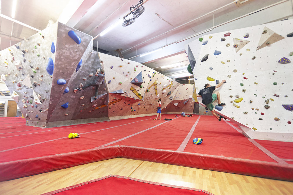 Bouldering at The Arch  - Exerk 'Find Your Fun' information