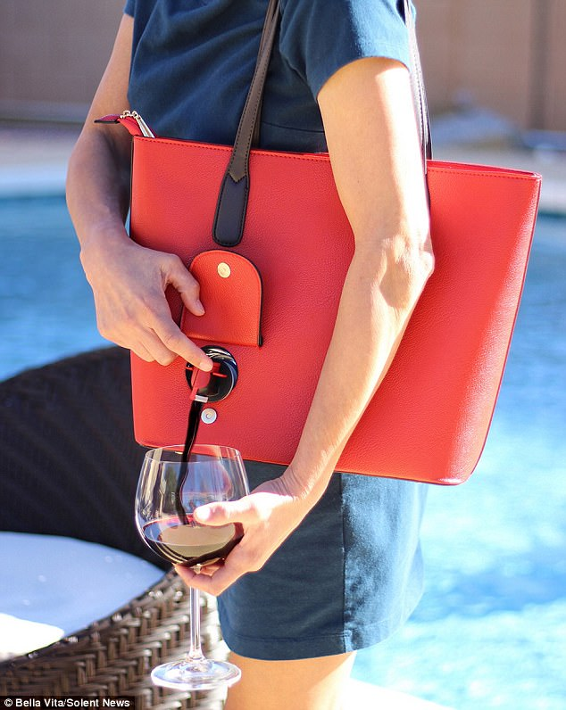If we can put wine in our bags, we can put comfy shoes too! -