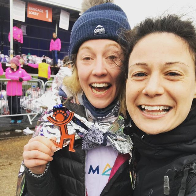 I told you I get pretty high on endorphins right?! 😆  So great to do first race since London Marathon 2016. Felt like familiar territory and definitely given me the confidence to get back and doing more this year with @team52challenge  Now off to pub with @project_awesome_london and @thelondonrelay lot!  #team52 #challenge #bighalf #run #running #team #sunday #marathon #halfmarathon