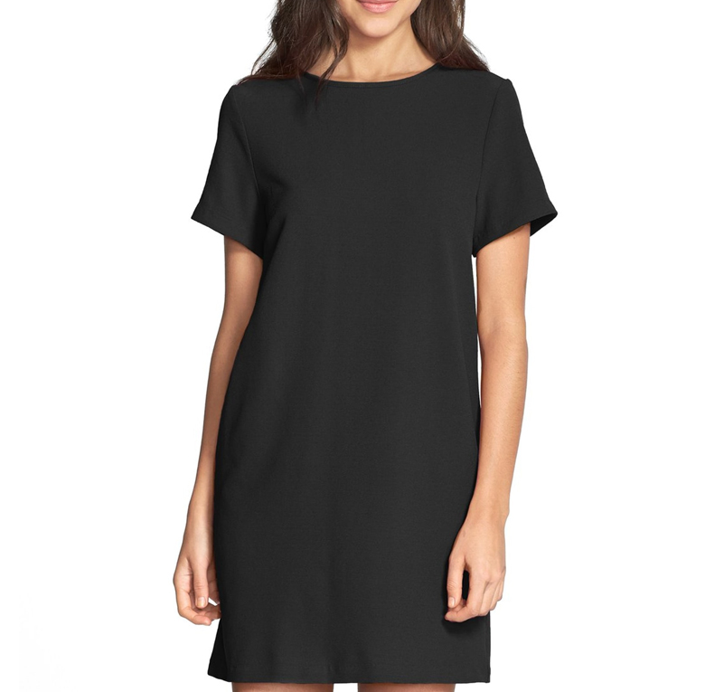 Devery Crepe Shift Dress - FELICITY & COCO