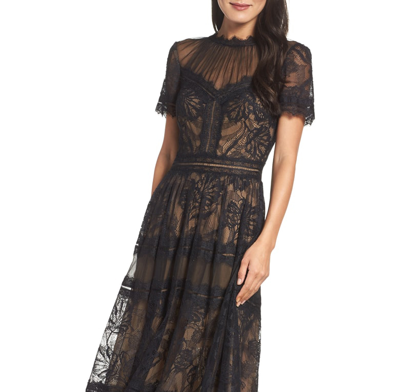 Lace Tea-Length Dress - VINCE CAMUTO