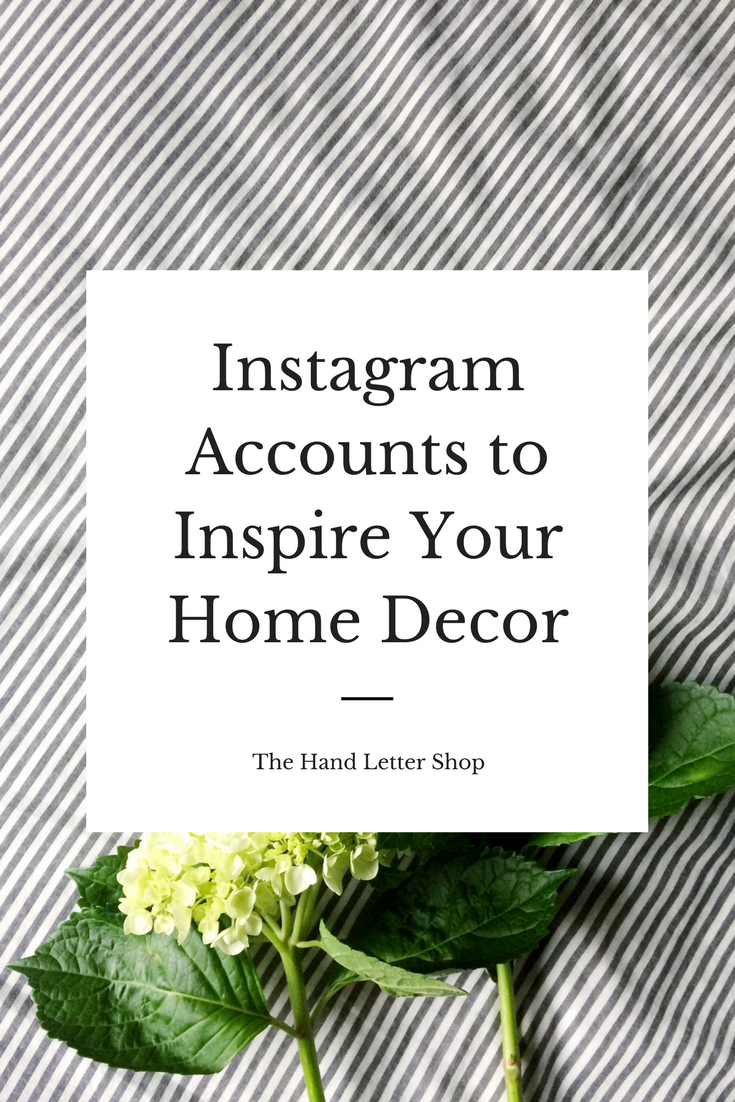 The IG accounts your home has been waiting for!