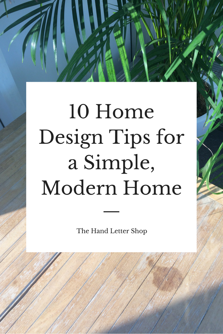 10 home design tips from The Hand Letter Shop