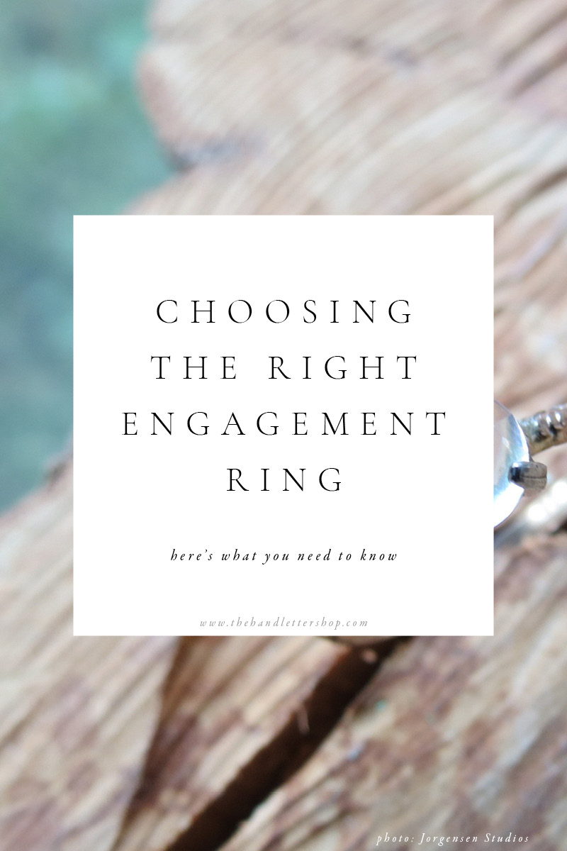 Engagement ring guide and wedding planning tips from #thehandlettershop