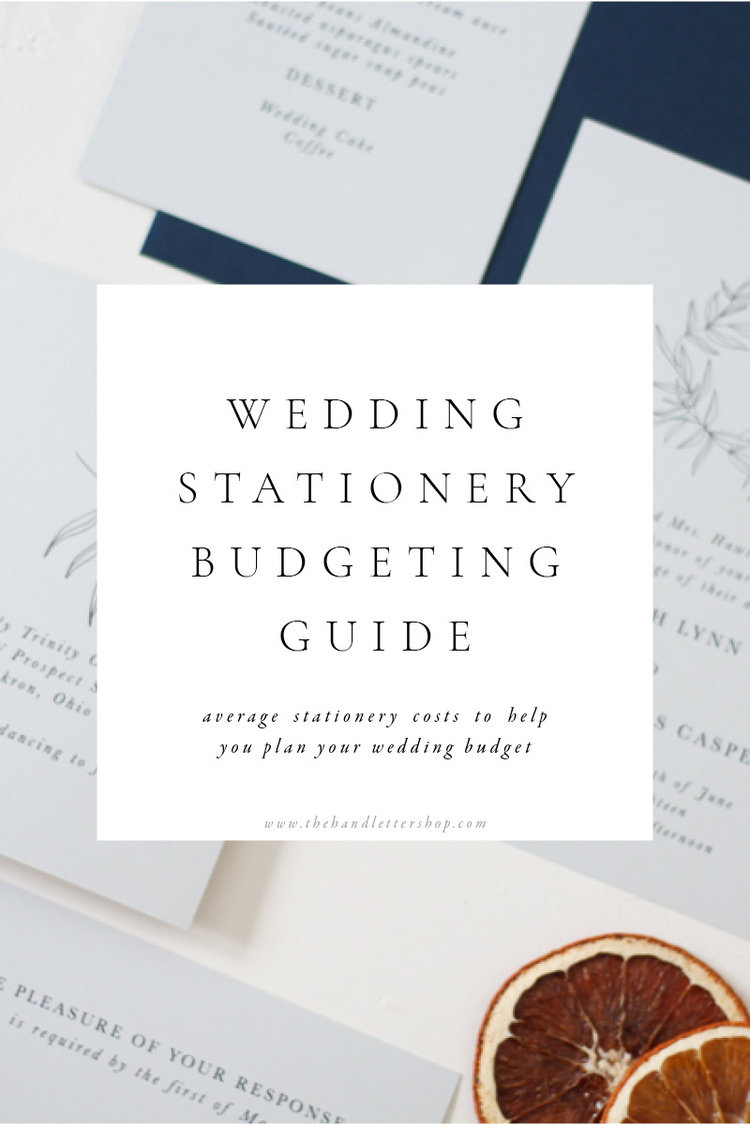 How much do wedding invitations cost? — The Hand Letter Shop