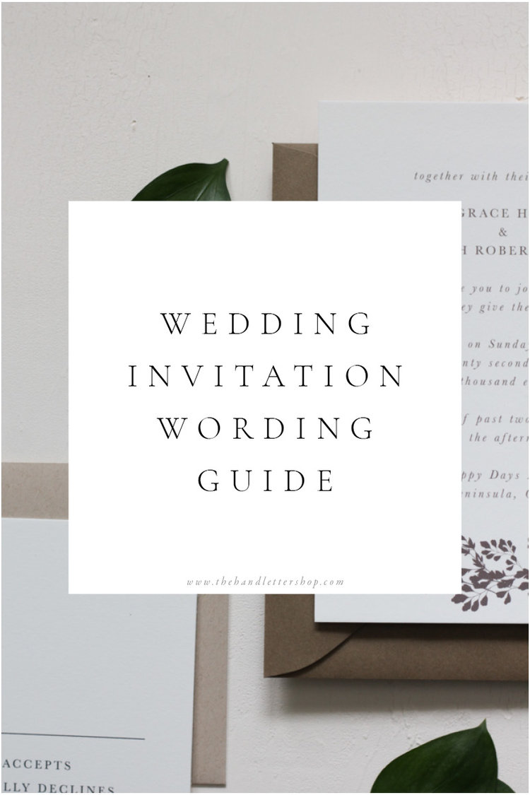 Wedding Invitation Wording Guide — The Hand Letter Shop