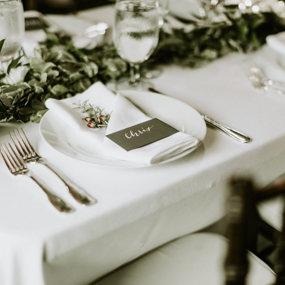 Wedding reception ideas and wedding planning tips from #thehandlettershop