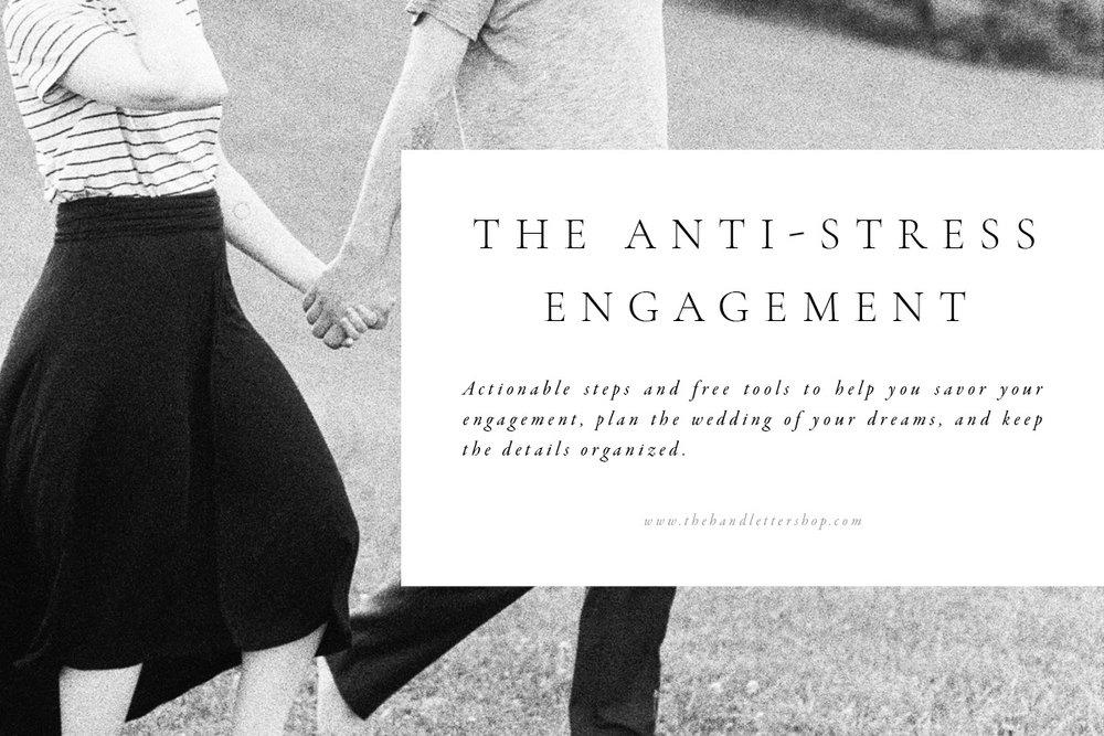 anti stress engagement banner #thehandlettershop