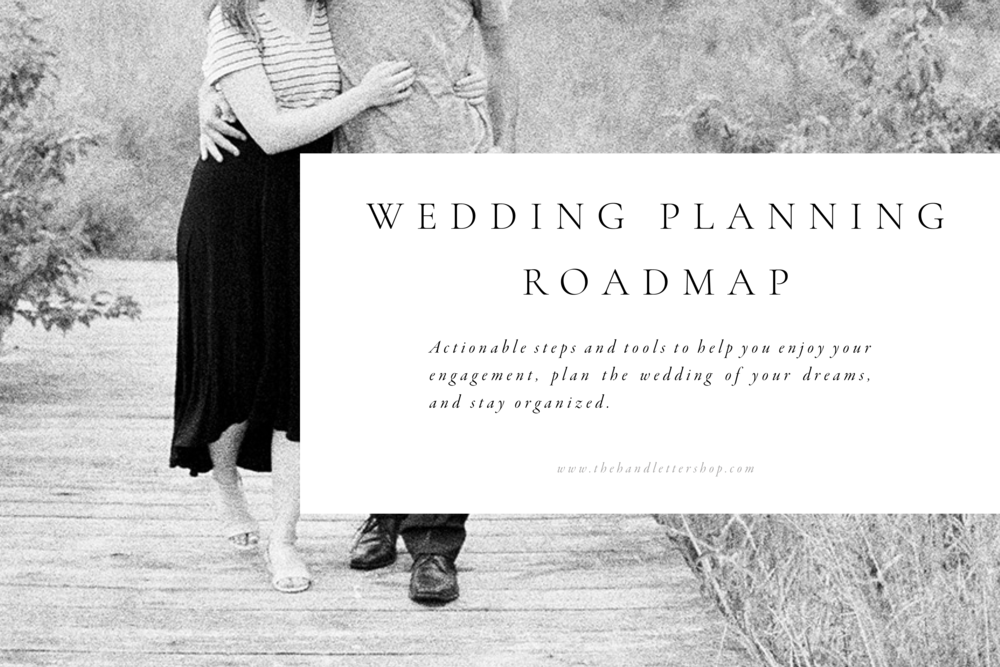 Pin this and click through to grab the wedding planning roadmap #thehandlettershop