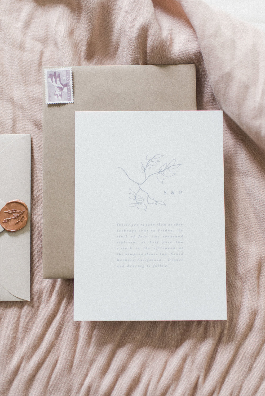 Wedding invitation design by Vivian Kammel