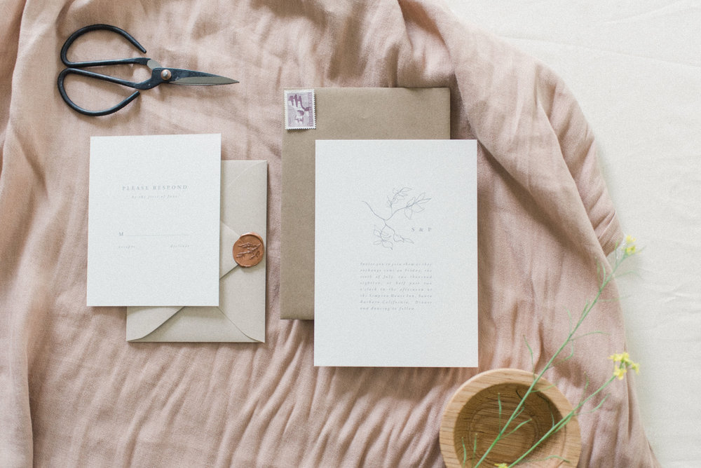 Wedding invitations and stationery by Vivian Kammel.