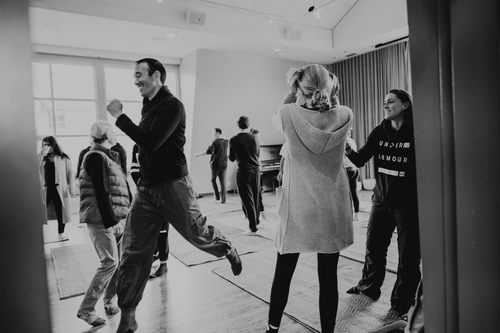 Up & Down - This workshop will teach you how to connect with yourself, others and the space around you in a profound and joyful way. Learn how to break free from familiar patterns of stress and tension through the art and science of movement. When you change how you move, you change how you live.