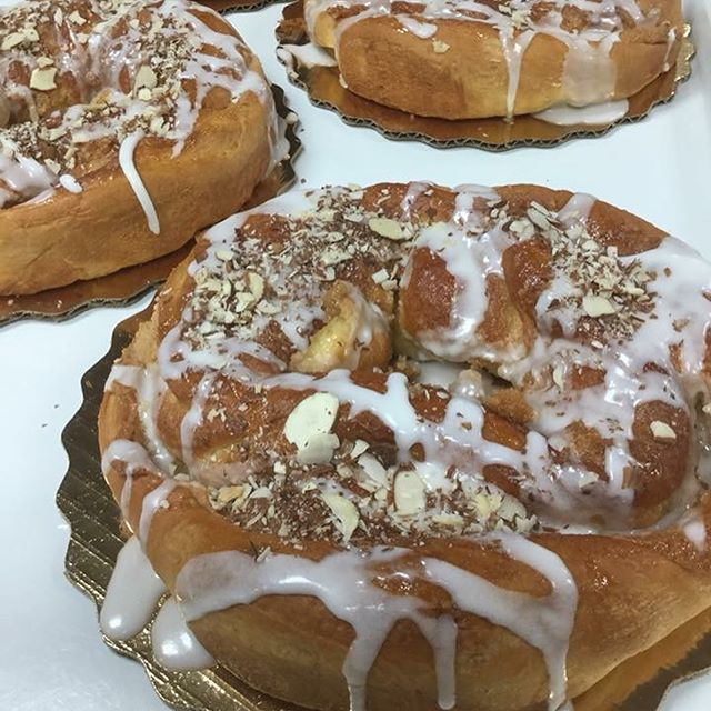 Almond danish ring and pecan caramel danish ring!
