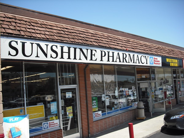 Sunshine Pharmacy is affiliated with Good Neighbor Pharmacy Group and offers full service in a number of items: - Western Union, Money Orders, Sells Stamps, PG&E bills accepted, Water bills accepted, Accepts Insurance, Handicap Accessible, Free Consultation, Delivery Service, Greeting Cards, Household essentials, Lottery, Newspapers / magazines,Free Parking