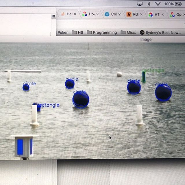 Functional object and colour identification #robotx #usydrowbot #opencv