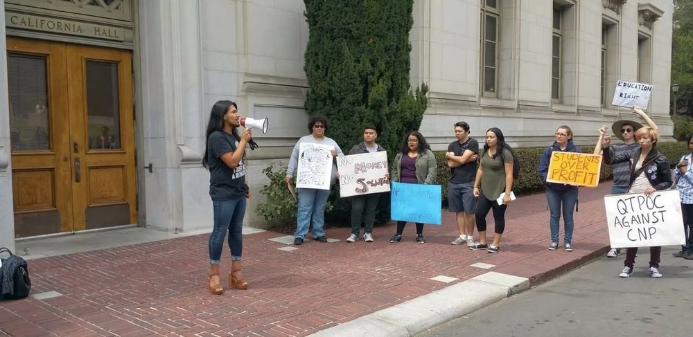 Anti-CNP Rally at Cal (Cancel 4 Nonpayment)