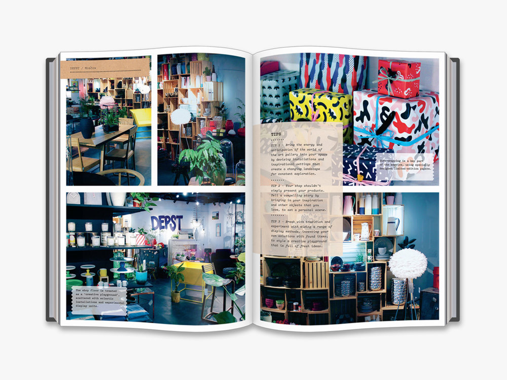 Full of colour - inside the pages of The Creative Shopkeeper. Image supplied.