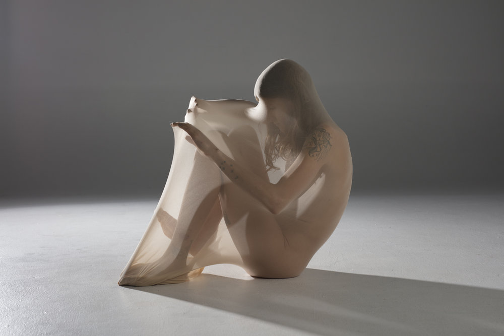 Hahn uses the nude as a sculptural form to tell a story. Photography: Lauren Hahn.