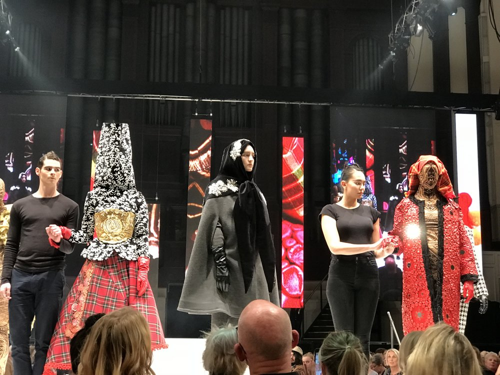 Damir Begovic collection on stage at the 2018 iD International Designer Awards. Photo: NEW KID.