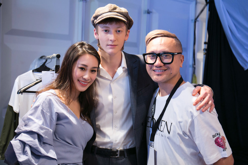 Vivian Cheng -co-owner, French 83 backstage at the brand's runway show at NZFW 2017. Image supplied.