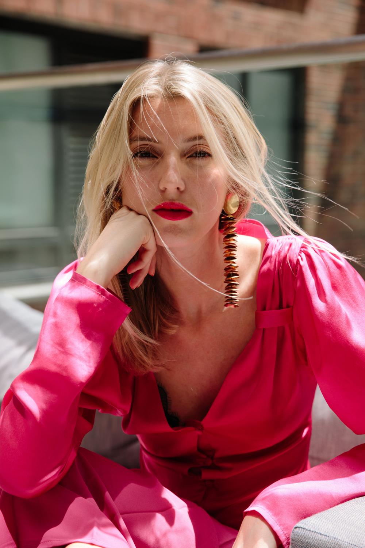 Maggie Hewitt designer and founder of luxury label Maggie Marilyn. Photo credit: Angela Datre
