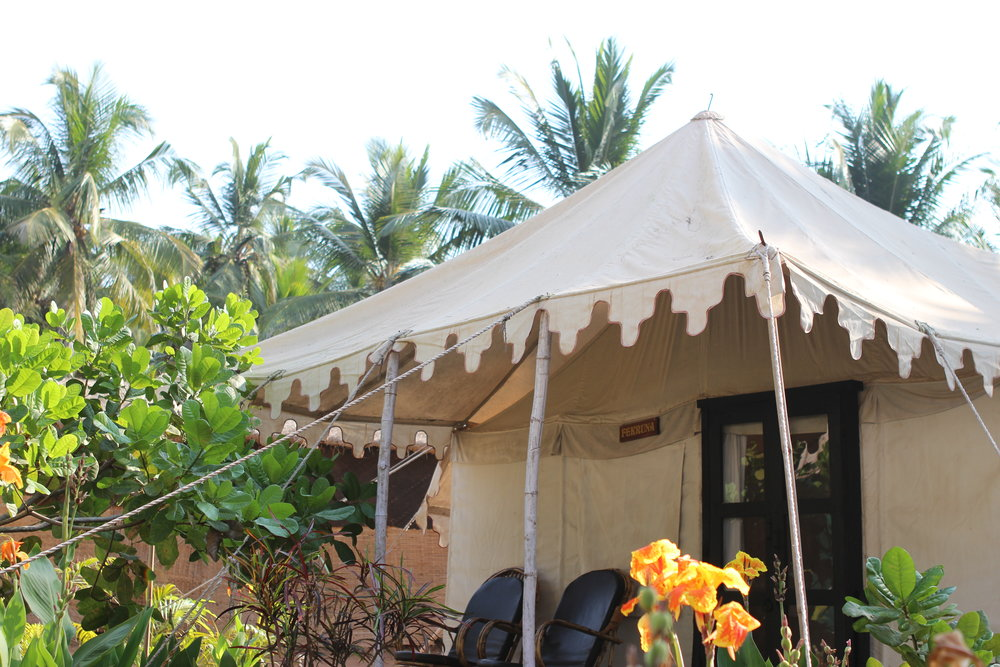 Cassoi, and our glamorous tent abode.