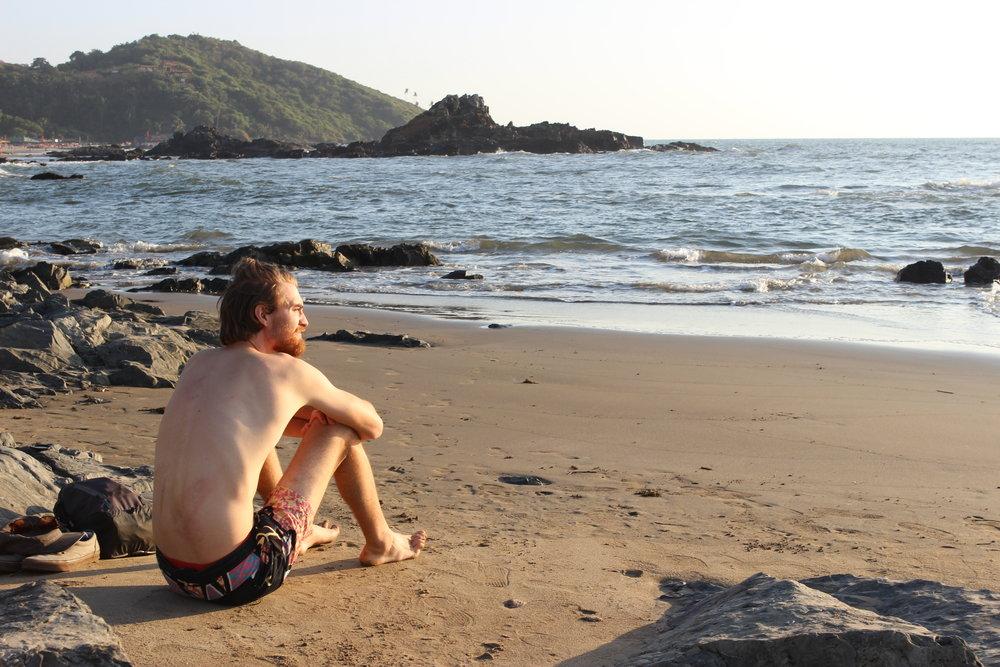 Our first taste of Goan beach life in Vagator.