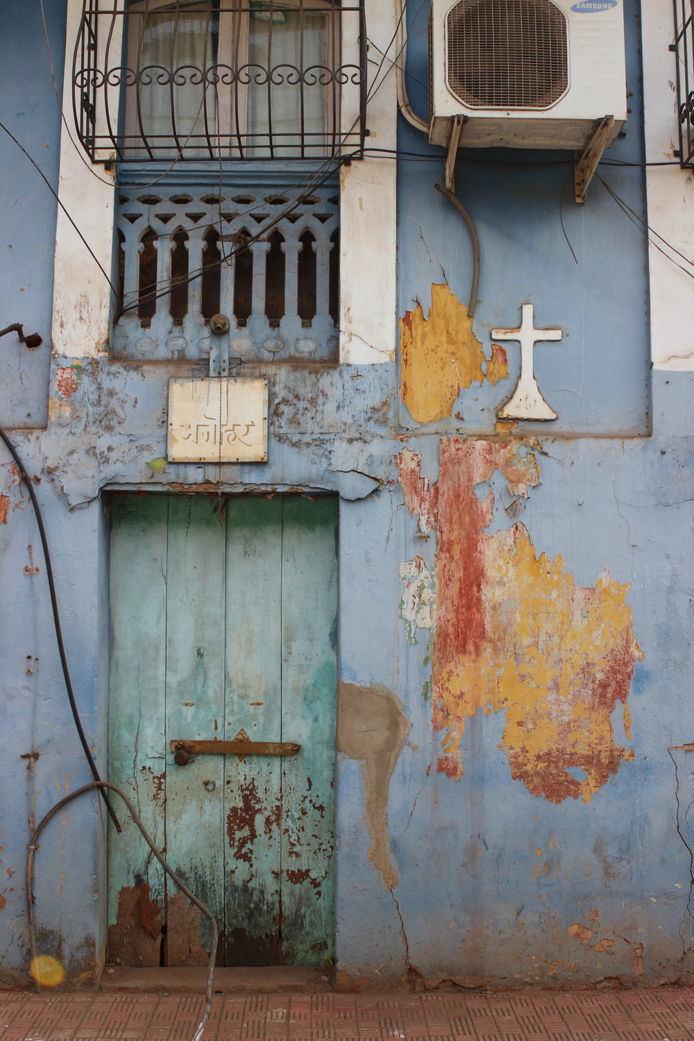 The vibrant pastels of Old Panjim.