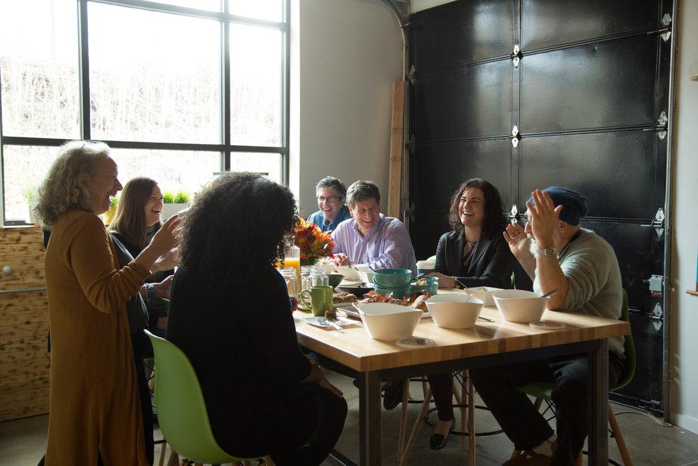 A Friday morning 818 Community Breakfast.