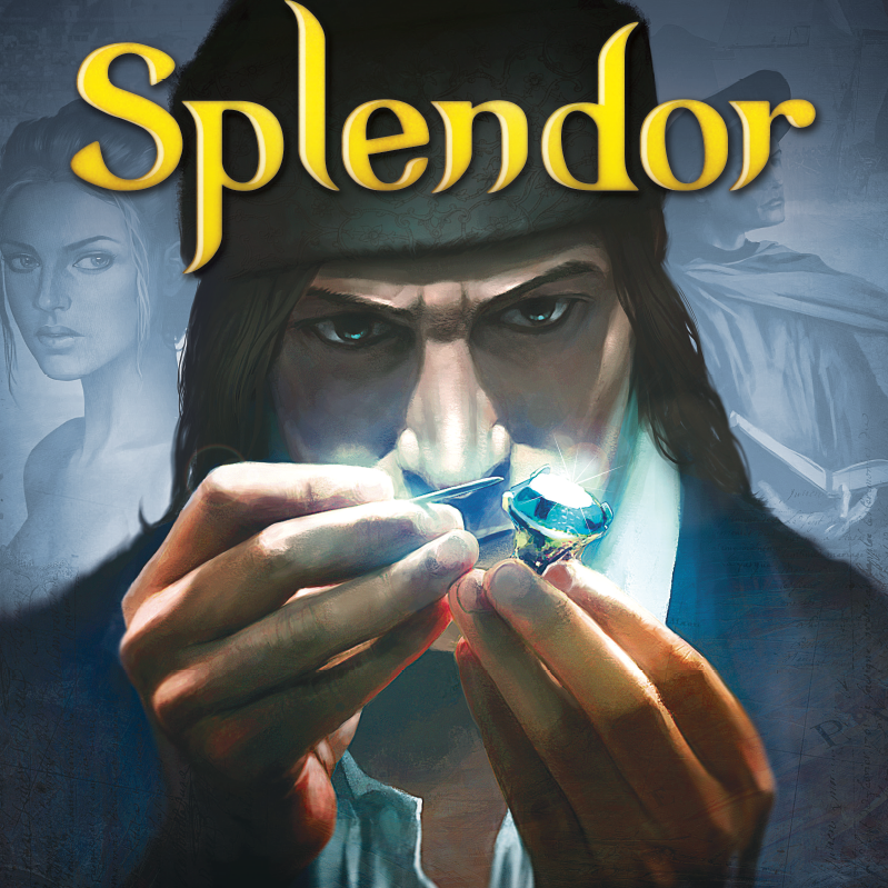 Splendor - Splendor is a great light-weight game that essentially tests how good you are at developing a resource building strategy. Splendor is interesting because you can essentially develop your strategy (and backup strategy) at the very beginning of the game as you determine which cards with VPs will be most valuable to purchase to secure a win. Then your off seeing if you can accumulate enough resource cards that will ultimately allow you to purchase enough VPs to win. This game is quick and usually stays very close until the very end.Splendor is a great game to sneak in before you start playing a lengthier game during your game nights! It's also a great 2-player game!